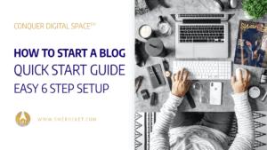 How to Start a Blog Quick Start Guide - Easy 6 Step Setup - SME Rocket Digital Business Accelerator
