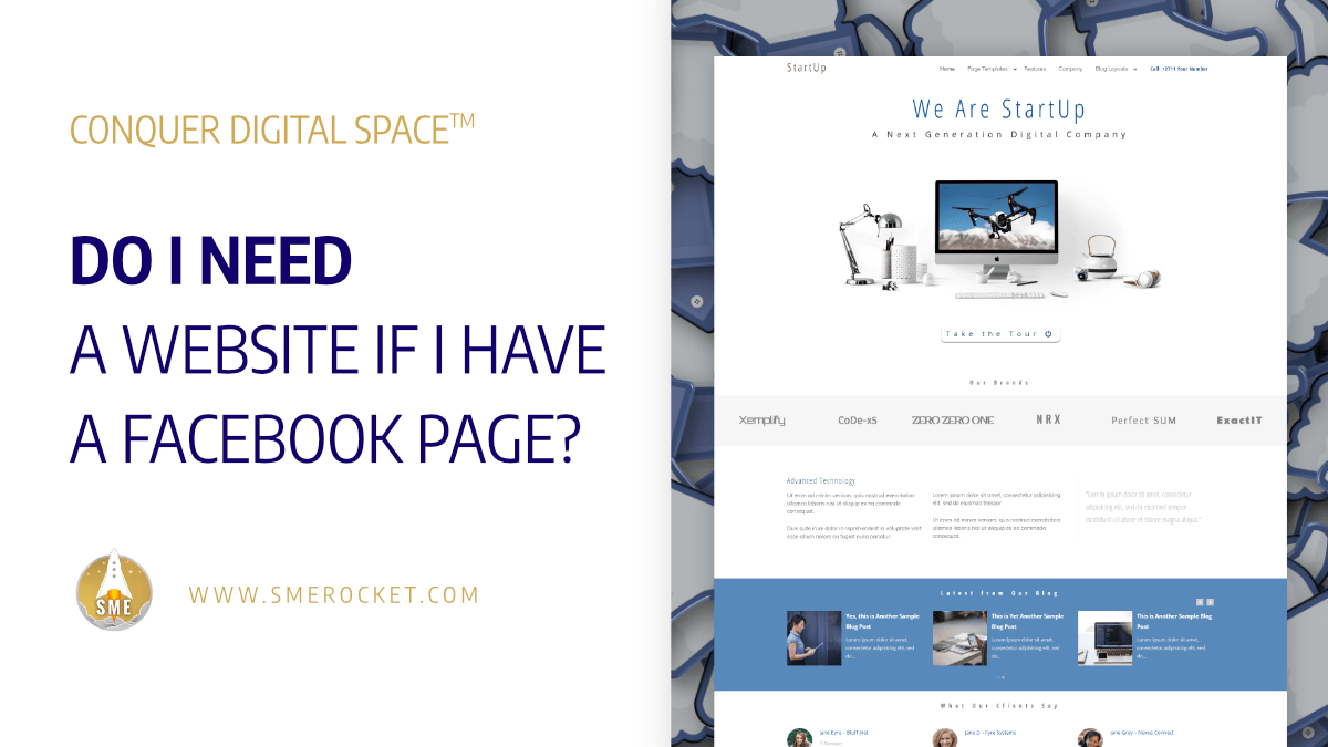 Do I Need a Website if I have a Facebook Page? - SME Rocket - Conquer Digital Space